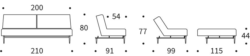 Ample sofa styletto