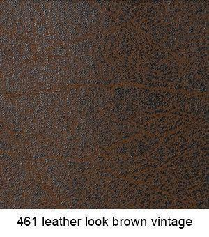5461 Leather Look Brown Vintage